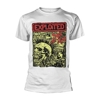 THE EXPLOITED - T-SHIRT, PUNKS NOT DEAD (WHITE)