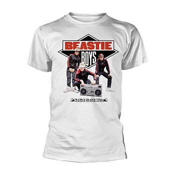 BEASTIE BOYS - T-SHIRT, SOLID GOLD HITS (WHITE)