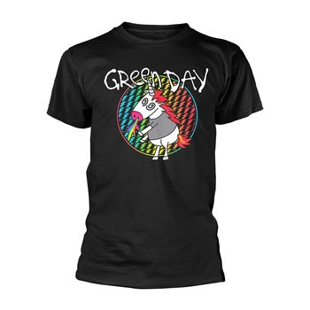 GREEN DAY - T-SHIRT, CHECKER UNICORN