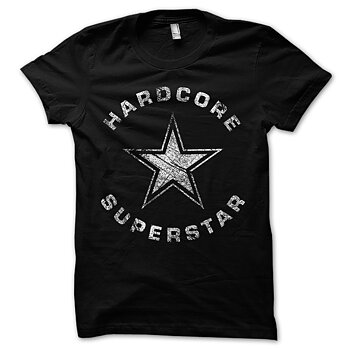 HARDCORE SUPERSTAR - T-SHIRT, TRASH LOGO VINTAGE (BLACK)
