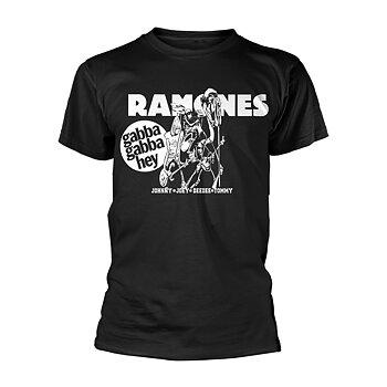 RAMONES, THE - T-SHIRT, GABBA GABBA HEY CARTOON
