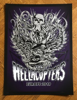HELLACOPTERS - SCREEN PRINTED POSTER, EUROPE 2019