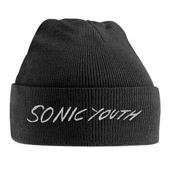 SONIC YOUTH - HAT, WHITE LOGO EMBROIDERED
