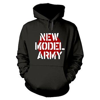 NEW MODEL ARMY - HOODIE, LOGO BLACK