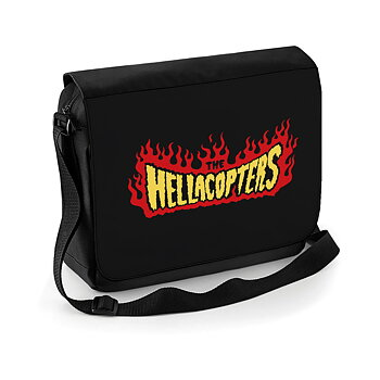 HELLACOPTERS - MESSENGER BAG, FLAMES LOGO