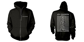 JOY DIVISION - ZIP HOOD, UNKNOWN PLEASURES