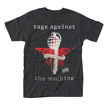 RAGE AGAINST THE MACHINE - T-SHIRT, BULLS ON PARADE MIC