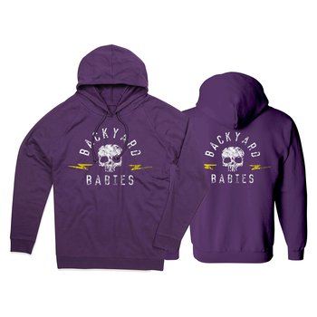 BACKYARD BABIES - HOODIE, SKULL -19 (PURPLE)