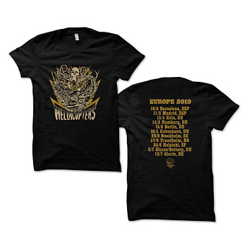 HELLACOPTERS - T-SHIRT, EUROPE TOUR 2019 (BLACK)