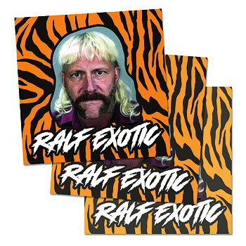 MUSTASCH - STICKER, RALF EXOTIC (3-PACK)