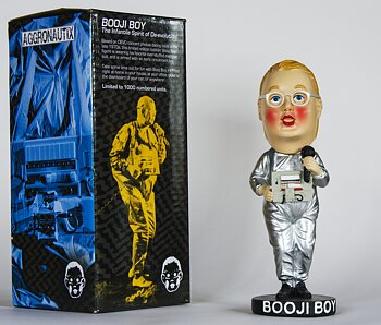 THROBBLE HEADS - BOOJI BOY FROM DEVO + STICKER