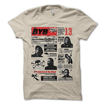 BACKYARD BABIES - T-SHIRT, NEWSPAPER