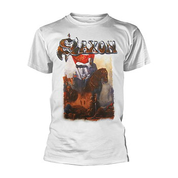 SAXON - T-SHIRT, CRUSADER (WHITE)