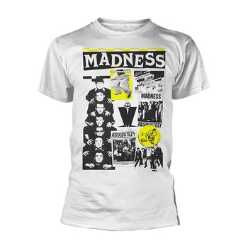 MADNESS - T-SHIRT, CUTTINGS 2 (WHITE)