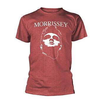 MORRISSEY - T-SHIRT, FACE LOGO (HEATHER RED)
