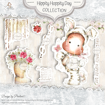 MAGNOLIA-SB-20 Hippity Hoppity Day Art Stamp Sheet