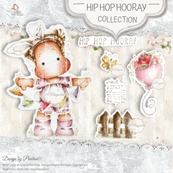 MAGNOLIA-SB-20 Hip Hop Hooray Art Stamp Sheet