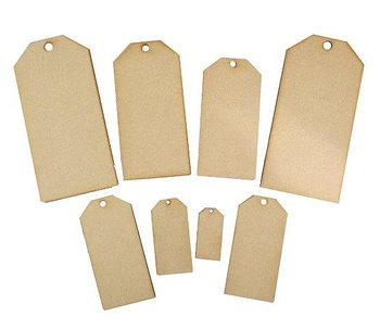 CREATIVE EXPRESSIONS-Mdf Mixed Tags pack of 8