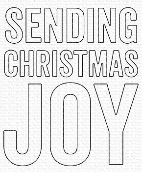 MY FAVORITE THINGS -Sending Christmas Joy Die-namics