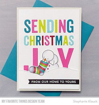 MY FAVORITE THINGS -Sending Christmas Joy Die-namics
