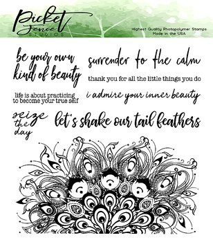 PICKET FENCE STUDIOS -Let's Shake Our Tail Feathers Clear Stamps