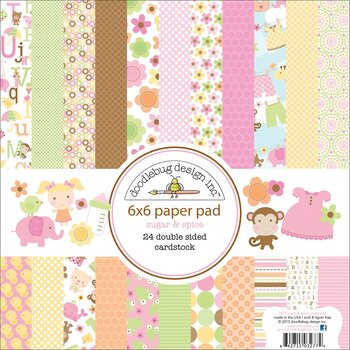 "Doodlebug- Double-Sided Paper Pad 6""X6""   -Sugar & Spice"