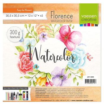 Florence • Watercolor paper texture 300g. 30,5x30,5cm 5pcs