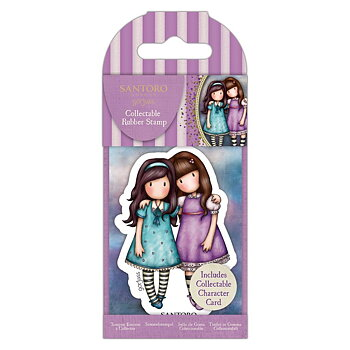 GORJUSS Collectable Mini Rubber Stamp No.72 Friends Walk Together