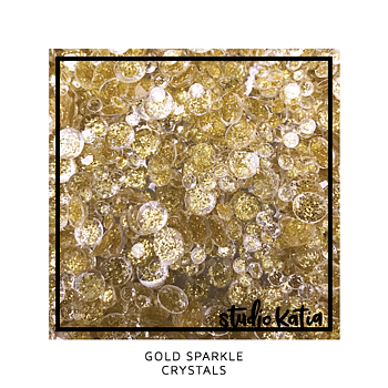 STUDIO KATIA-GOLD SPARKLE CRYSTALS