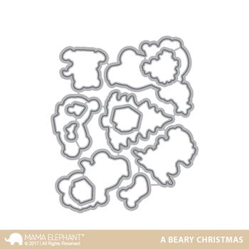 MAMA ELEPHANT -A BEARY CHRISTMAS - CREATIVE CUTS