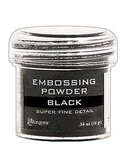 RANGER Embossing Powder Super Fine Black, 1oz Jar