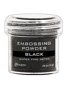 RANGER Embossing Powder Super Fine Black, 1oz Jar