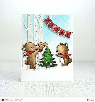 MAMA ELEPHANT -A BEARY CHRISTMAS