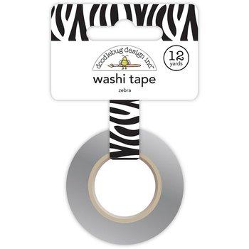 DOODLEBUG  Washi Tape 15mmX12yd -Zebra