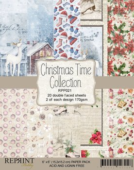 """Reprint Christmas Time Collection Pack 6x6"""""""
