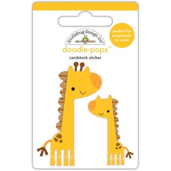 DOODLEBUG  -Doodle-Pops 3D Stickers  At The Zoo Jenny & Jojo Giraffe