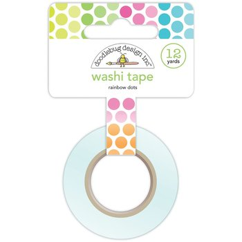 DOODLEBUG-WASHI TAPE -15mm -Rainbow Dots