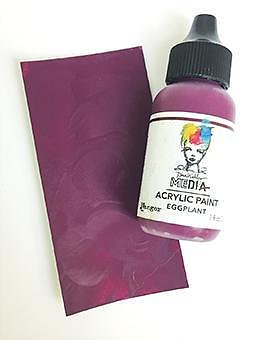 RANGER Dina Wakley Media Acrylic Paint Eggplant, 1oz 29 ML