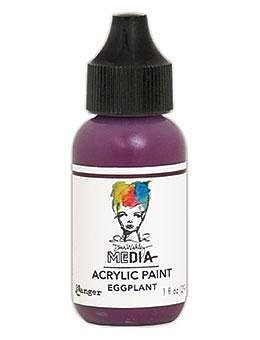 RANGER Dina Wakley Media Acrylic Paint Eggplant, 1oz , 29 ML