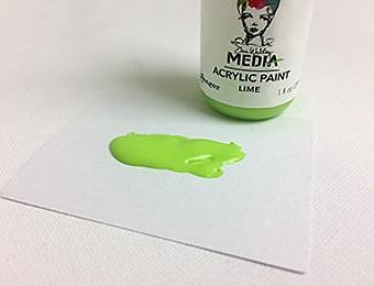 RANGER Dina Wakley Media Acrylic Paint Lime, 1oz 29 ML
