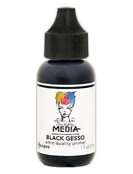 RANGER  Dina Wakley Media Gesso Black 1oz, 29 ML