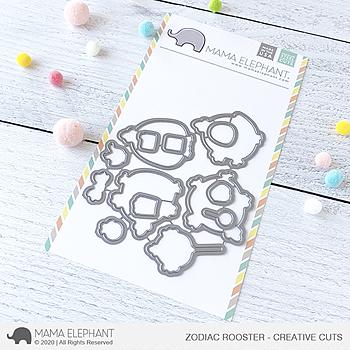 MAMA ELEPHANT-ZODIAC ROOSTER - CREATIVE CUTS