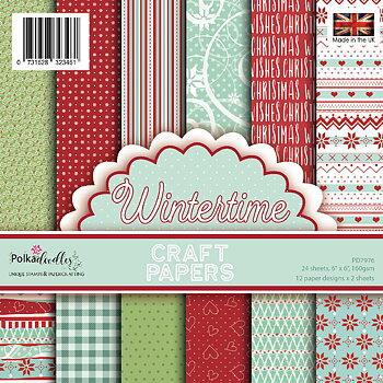 POLKADOODLES -Wintertime 6x6 Inch Paper Pack
