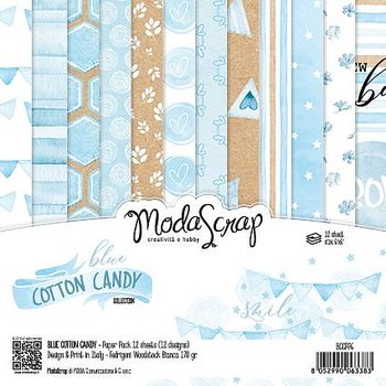 MODASCRAP - PAPER PACK BLUE COTTON CANDY 6X6""
