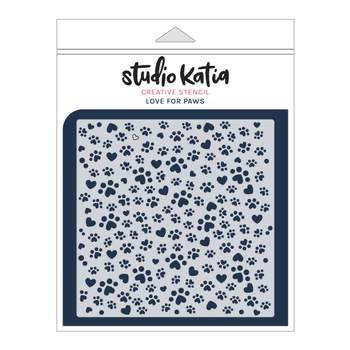 STUDIO KATIA-LOVE FOR PAWS STENCIL