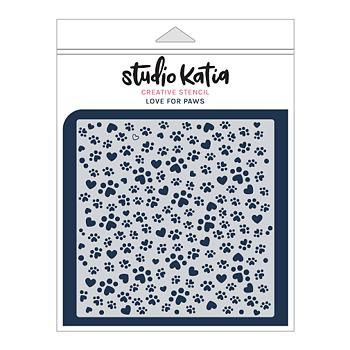 STUDIO KATIA-LOVE FOR PAWS STENCIL