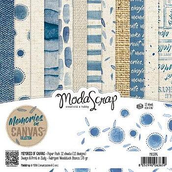 "MODASCRAP - PAPER PACK MEMORIES ON CANVAS 6X6"""