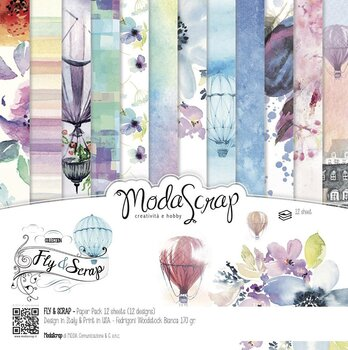 MODASCRAP - PAPER PACK FLY & SCRAP 6X6""
