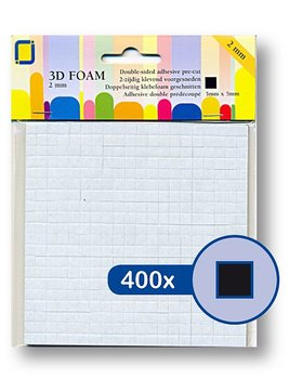 JEJE Produkt 3D Foam  5 mm x 5 mm x 2 mm  -Black