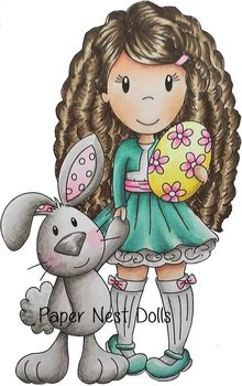 PAPER NEST DOLLS-Ellie with Bunny Friend